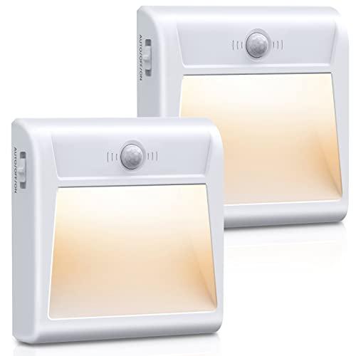 OMERIL LED Nachtlicht mit Bewegungsmelder, 2 St.