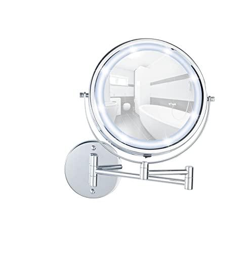 WENKO Power-Loc® LED Wandspiegel Lumi