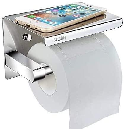 Telgoner Toilettenpapierhalter selbstklebend mit Ablage