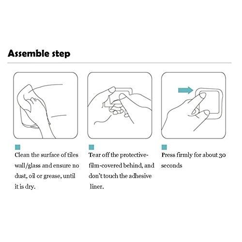 Haken Selbstklebende Handtuchhaken ohne Bohren Wandhaken 4 Stk Klebehaken Edelstahl für Küche und Bad, von Ruicer - 7