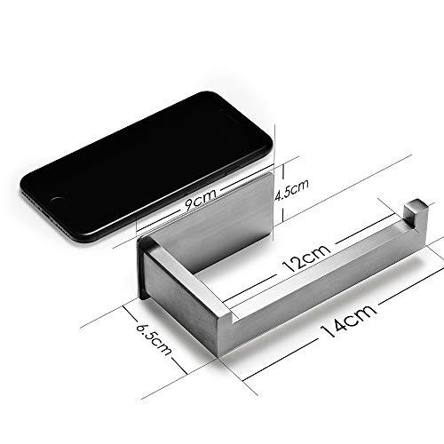 Auxmir Toilettenpapierhalter ohne Bohren, Klopapierhalter Edelstahl Papierhalter Selbstklebend für Badezimmer Toilette Küche, Rostfrei, Silber - 3