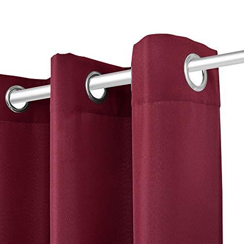 bomoe Duschvorhangstange Neptun - 55-90 cm - Weiß - Teleskopstange als Duschstange ohne Bohren oder Kleiderstange - Stufenlos ausziehbar - 5