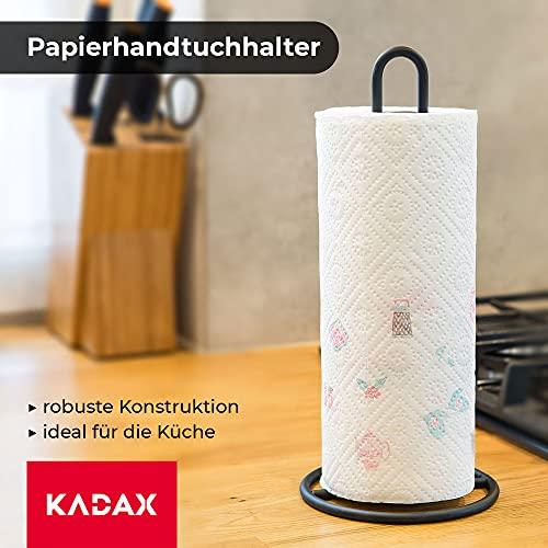 KADAX Küchenrollenhalter schwarz, stehend - 2