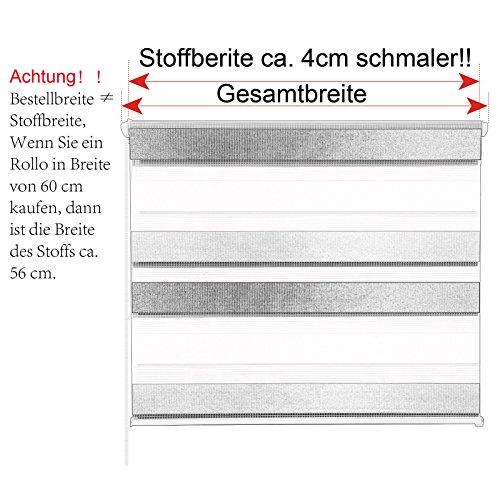 WOLTU DR5616m1 Doppelrollo Klemmfix - 6