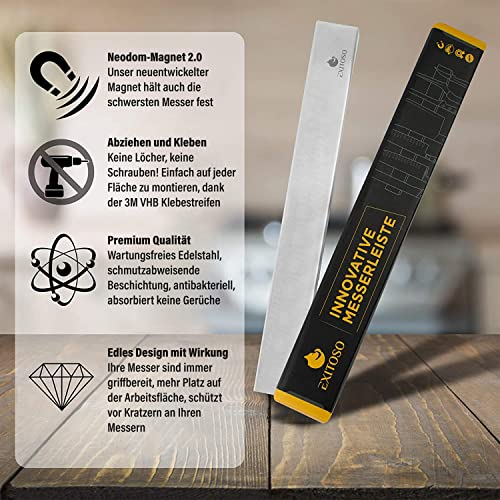 Exitoso® Das Original- Messer Magnetleiste – selbstklebend - 3