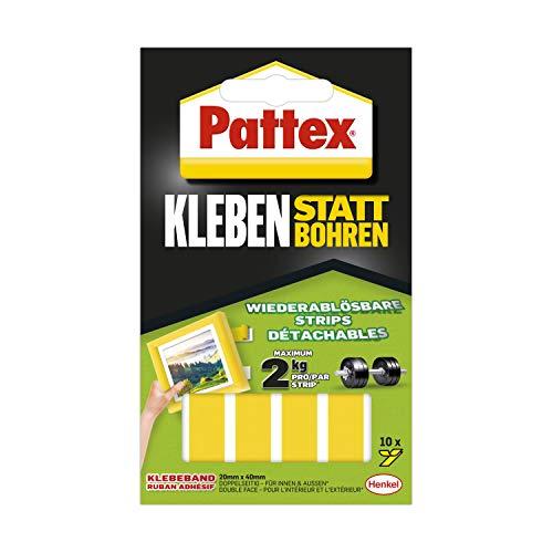 Pattex Kleben statt Bohren Klebe-Strips, 10 Streifen