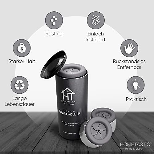 Hometastic Premium Geschirrtuchhalter selbstklebend – 4er Set - 4